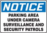 Notice - Parking Area Under Camera Surveillance And Security Patrols