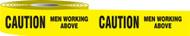Caution Men Working Above Barricade Tape
