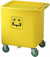 Bradley S19-399 Emergency Eyewash Waste Cart CART ONLY
