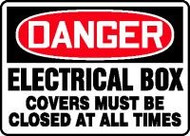 Danger - Electrical Box Covers Must Closed At All Times