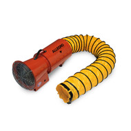 "Allegro 9506-01 8"" Axial DC Metal Blower w/ Canister & 15' Ducting, 12V"