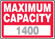 Maximum Capacity ____ 1
