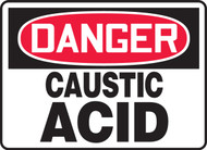 Danger - Caustic Acid