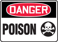 Danger - Poison Sign w/ graphic