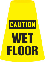 Caution Wet Floor- Cone Cuff Sleeve