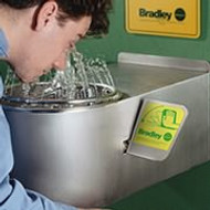 Bradley S19-220BF Eyewash Station  Barrier Free with bowl and skirt