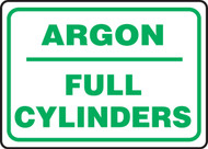 Argon Full Cylinders - Dura-Plastic - 10'' X 14''