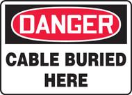 Danger - Cable Buried Here - Dura-Fiberglass - 10'' X 14''
