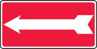 MADM978VA Arrow Sign Red White