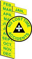 No Lost Time Accidents Month Labels