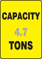 Capacity ___ Tons ___ - Plastic - 14'' X 10''