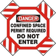 Man-Way Cross Barrier- Danger Confined Space Permit Required