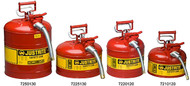"Safety Can - Justrite Type II Safety Can -5 Gallon w/  1"" Hose"
