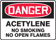 Danger - Acetylene No Smoking No Open Flames