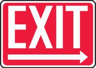 Exit (Arrow Right) - Accu-Shield - 10'' X 14'' 1