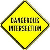 Dangerous Intersection Sign