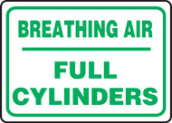 Breathing Air Full Cylinders - Adhesive Dura-Vinyl - 10'' X 14''