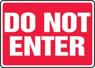 Do Not Enter - Dura-Plastic - 10'' X 14''