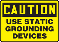 Caution - Use Static Grounding Devices - .040 Aluminum - 10'' X 14''