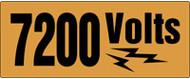 7200 Volts Label Voltage Marker