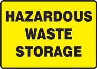 Hazardous Waste Storage - .040 Aluminum - 7'' X 10''
