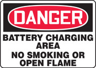 Danger - Battery Charging Area No Smoking Or Open Flame