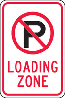 No Parking Symbol)-Loading Zone