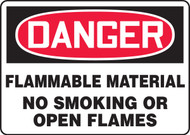 Danger Flammable Material No Smoking Or Open Flames