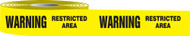 Warning Restricted Area Barricade Tape