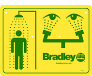 Bradley 114-052 Emergency Shower Sign