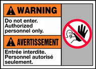 Warning Do Not Enter Authorized Personnel Only (W/Graphic)