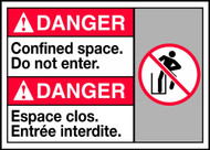 Danger Confined Space Do Not Enter (W/Graphic)