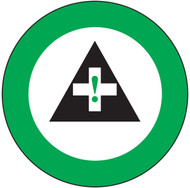 "First Aid Graphic Label For Hard Hat- 2 1/4""- 10/pkg"