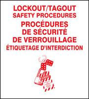 Lockout Procedure Station Binders