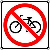 No Bicycle Crossing Symbol