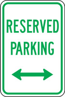 Reserved Parking Sign 1
