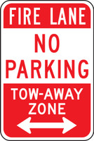 Fire Lane No Parking Tow-away Zone