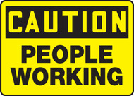 Caution - People Working