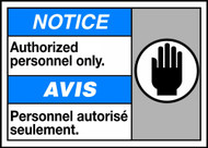Notice Authorized Personnel Only (W/Graphic)