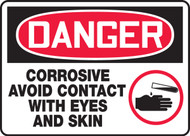 Danger - Corrosive Avoid Contact With Eyes And Skin