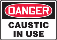 Danger - Caustic In Use