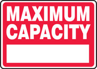 Maximum Capacity ____