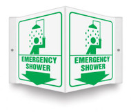 "Emergency Shower - 3D 6"" x 5"" - Safety Panel - Projection Sign"