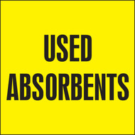 Used Absorbents Labels