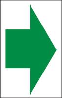 Arrow (Green Arrow On White) - Accu-Shield - 7'' X 5''