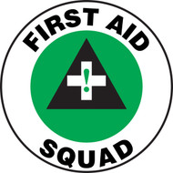 First Aid Squad Label- Hard Hat Decal- 2 1- 10/pkg'
