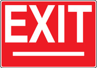 Exit Sign White On Red