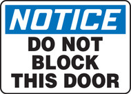 Notice - Do Not Block This Door