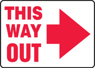 This Way Out Arrow Right