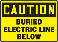 Caution - Buried Electric Line Below